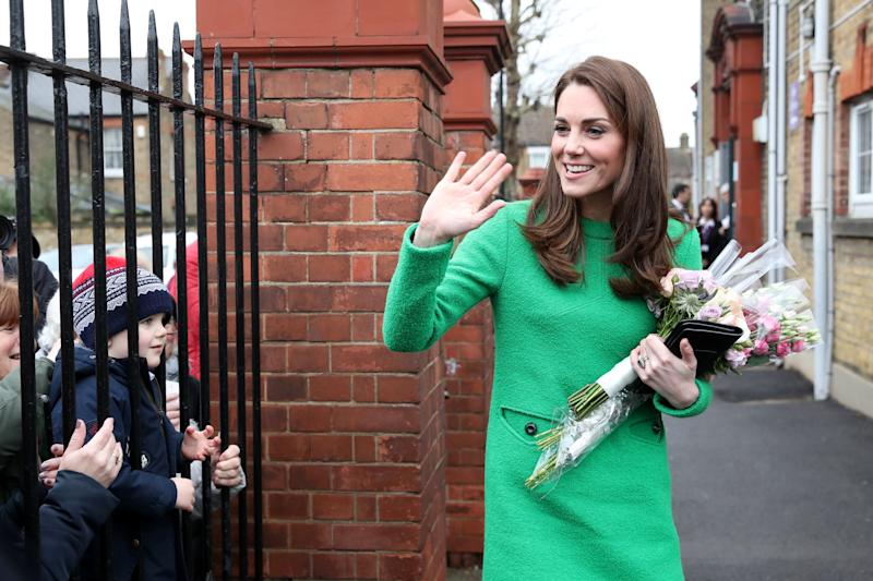ca35be7abd6 Royal fans notice  angry face  in Kate s designer dress