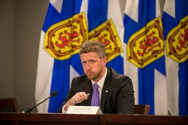 Premier Iain Rankin at the provincial COVID-19 briefing on Monday, where he addressed the fact he was charged with impaired driving in 2003 and again in 2005.  (Communications Nova Scotia - image credit)