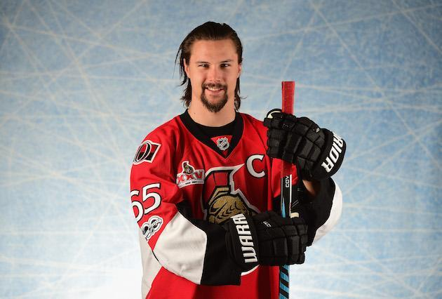 LOS ANGELES, CA – JANUARY 29: Erik Karlsson #65 of the Ottawa Senators poses for a portrait prior to the 2017 Honda NHL All-Star Game at Staples Center on January 29, 2017 in Los Angeles, California. (Photo by Harry How/Getty Images)