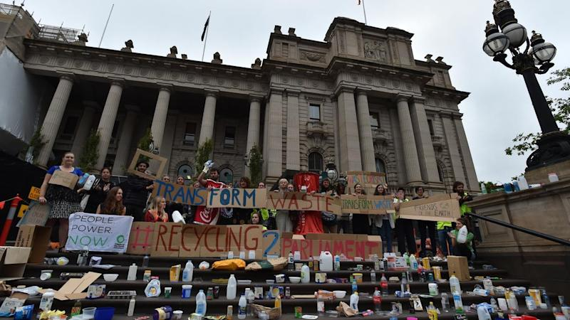 VICTORIAN RECYCLING PROTEST