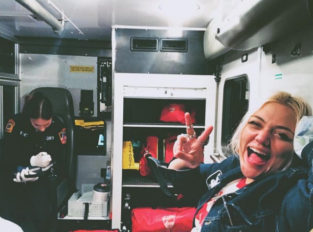 "<p>""For a bad time call Elle King,"" the singer captioned this pic of herself in the back of an ambulance, after a scary car accident. ""I was very lucky to walk away from a car crash with only a bump on the head. I just want to say how grateful I am to be a living person,"" she shared. ""To feel pain along with joy. These are reminders that we are alive. A drunk driver ran a red light and we t boned right there in the middle of the intersection."" King, who must have been in a cab or Uber, added, ""We were charged for the ride."" (Photo: <a href=""https://www.instagram.com/p/Baava1XlTgs/?taken-by=elleking"" rel=""nofollow noopener"" target=""_blank"" data-ylk=""slk:Elle King via Instagram"" class=""link rapid-noclick-resp"">Elle King via Instagram</a>) </p>"