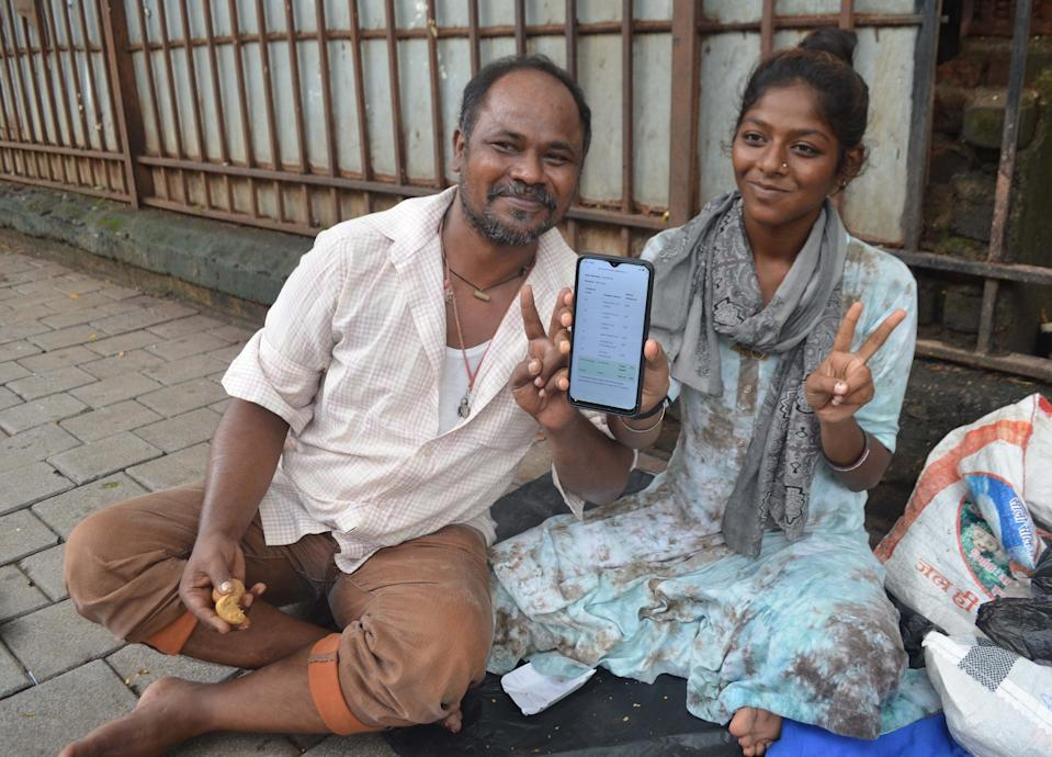 Its a proud moment for Salim Shaikh, a street dweller near CST. His daughter Asma Shaikh, 17 passed SSC with 40%. Â She was a student of Hirjeebhoy Allahrakhia Laljeebhoy Sajan Girls High School. Her father has not paid her tution fees for last six months. He hopes that Asma can study further. in Mumbai on 30/07/20 ....Pic-ARUN PATIL