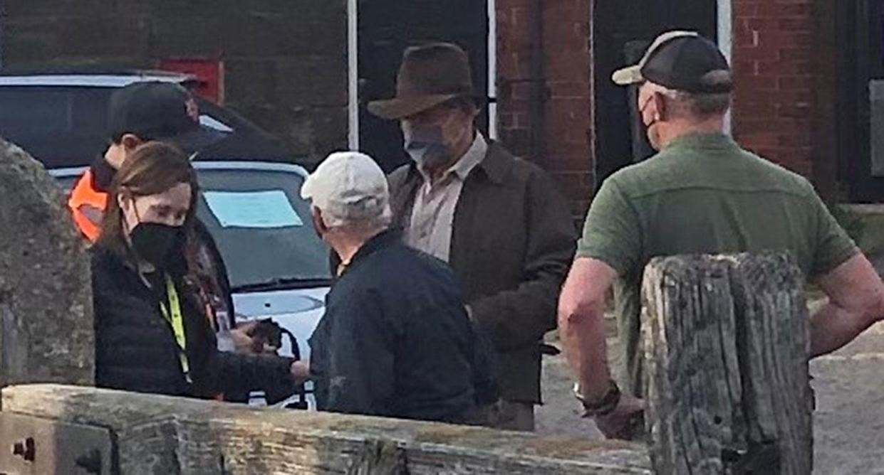 Harrison Ford filming in Grosmont, North Yorkshire (North Yorkshire County Council/PA)