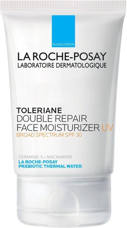 """<h2>La Roche-Posay Toleriane Double Repair Face Moisturizer UV SPF 30<br></h2><br>If you have sensitive, redness-prone skin, this lightweight, oil-free SPF 30 moisturizer helps maintain a healthy moisture barrier while cutting down on irritation with a prebiotic complex.<br><br><strong>La Roche-Posay</strong> Toleriane Double Repair Face Moisturizer UV SPF 30, $, available at <a href=""""https://go.skimresources.com/?id=30283X879131&url=https%3A%2F%2Fwww.ulta.com%2Fp%2Ftoleriane-double-repair-face-moisturizer-uv-spf-30-xlsImpprod15681007"""" rel=""""nofollow noopener"""" target=""""_blank"""" data-ylk=""""slk:Ulta Beauty"""" class=""""link rapid-noclick-resp"""">Ulta Beauty</a>"""
