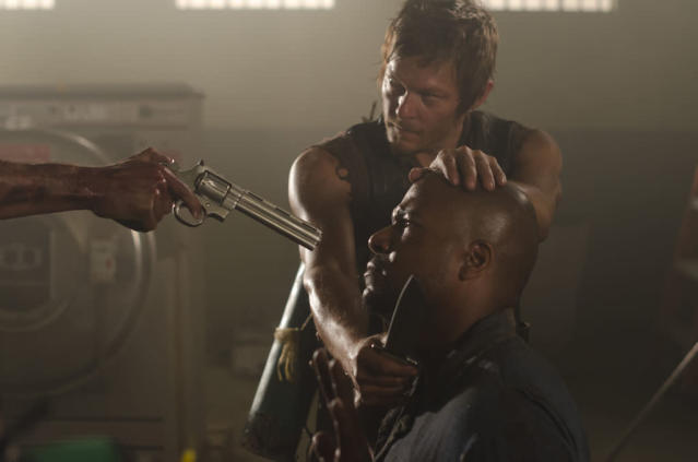 "Daryl Dixon (Norman Reedus) and Oscar (Vincent Ward) in ""The Walking Dead"" episode, ""Sick."""