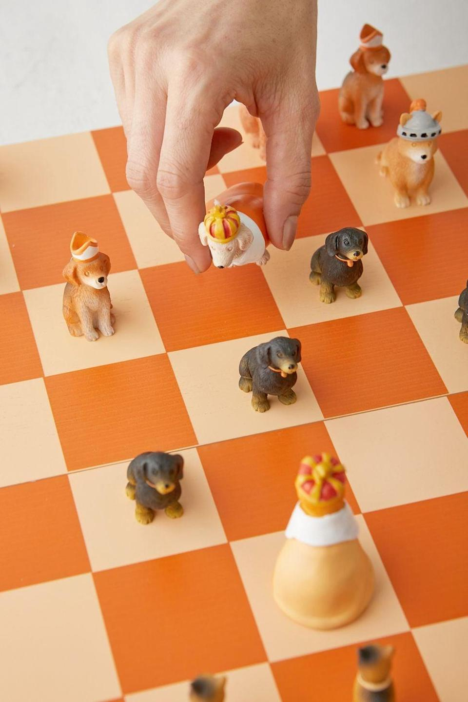 <p>Why play regular chess, when you can play this <span>Cats Vs. Dogs Chess Set</span> ($179)? The fun design will surely make them smile.</p>