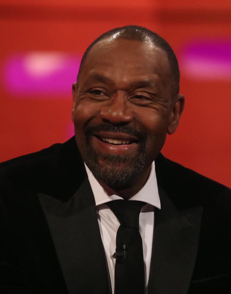 Lenny Henry during the filming for the Graham Norton Show at BBC Studioworks 6 Television Centre, Wood Lane, London, to be aired on BBC One on Friday evening.