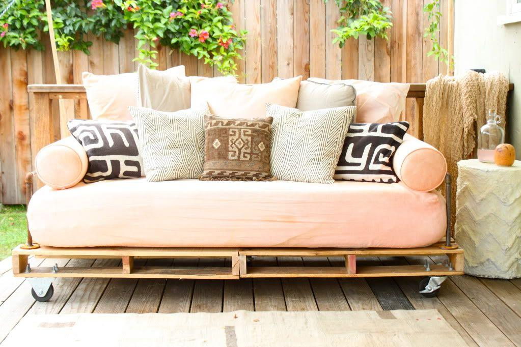 """<p>Want to spruce up your outdoor or indoor space? This DIY pallet daybed can help.</p><p><strong>See the tutorial at </strong><a href=""""https://www.prettyprudent.com/2011/07/prudent-home/how-to-build-a-pallet-daybed-2/"""" target=""""_blank""""><strong>Pretty Prudent</strong></a><strong>.</strong></p><p><a class=""""body-btn-link"""" href=""""https://www.amazon.com/Swivel-Caster-Wheels-Locking-Polyurethane/dp/B06Y49D2J2?tag=syn-yahoo-20&ascsubtag=%5Bartid%7C10050.g.31118532%5Bsrc%7Cyahoo-us"""" target=""""_blank""""><strong>SHOP CASTERS</strong></a></p>"""