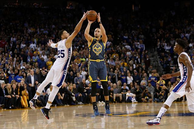 Stephen Curry will participate in the 3-point contest in the upcoming All-Star weekend in front of a hometown Charlotte crowd. (Getty)