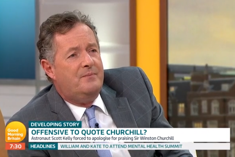 Piers Morgan took issue when academic Kehinde Andrews called Churchill racist on Good Morning Britain (GMB)