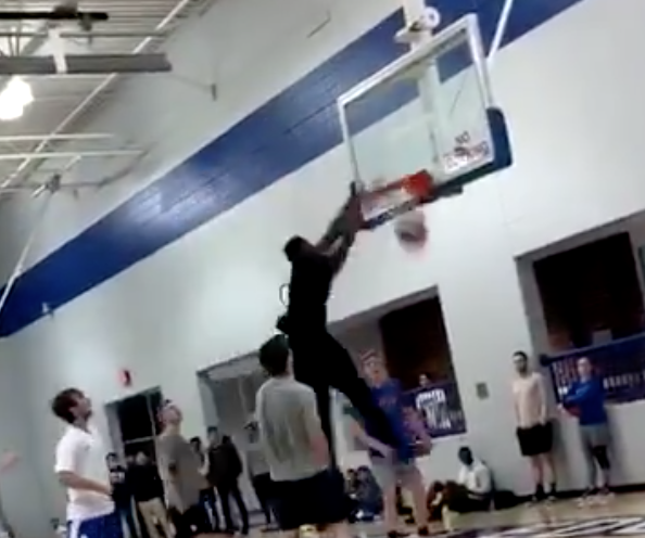 How is Zion Williamson handling Duke's loss? By nearly breaking a backboard in a pickup game