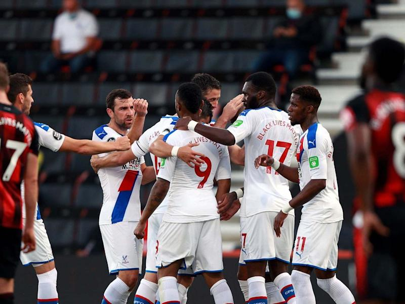 Crystal Palace's sole win since the restart came against strugglers Bournemouth: PA