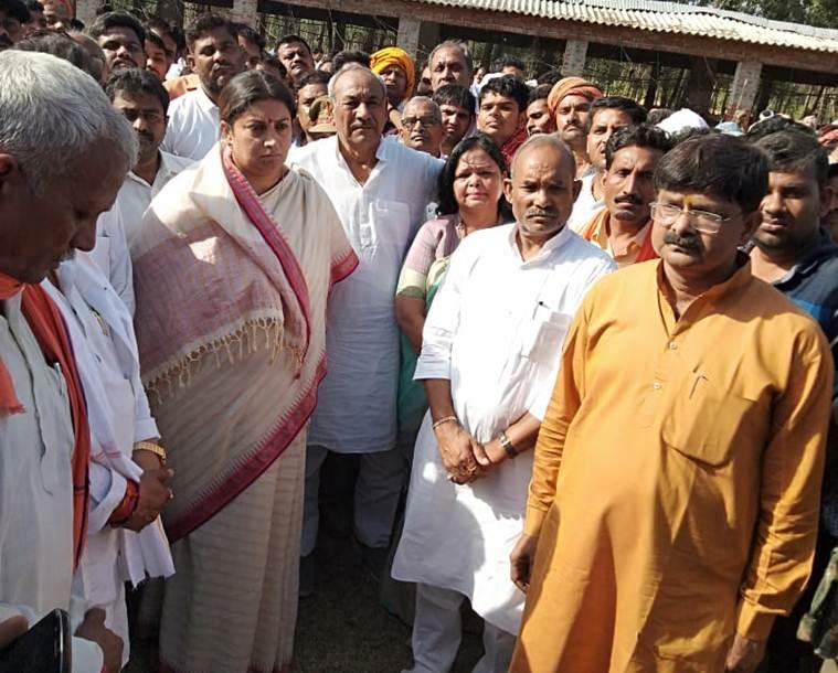 BJP worker killed, Smriti Irani says bid to terrorise, disintegrate Amethi