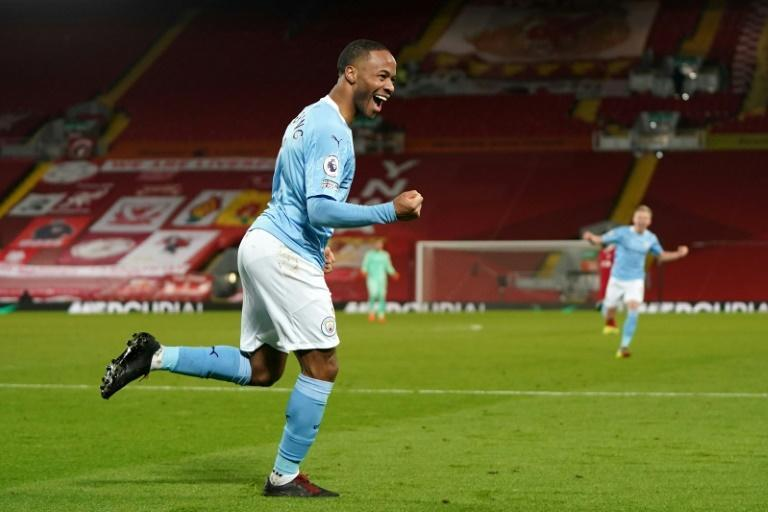Raheem's revenge: Raheem Sterling scored against Liverpool at Anfield for the first time since leaving the Red to join Manchester City