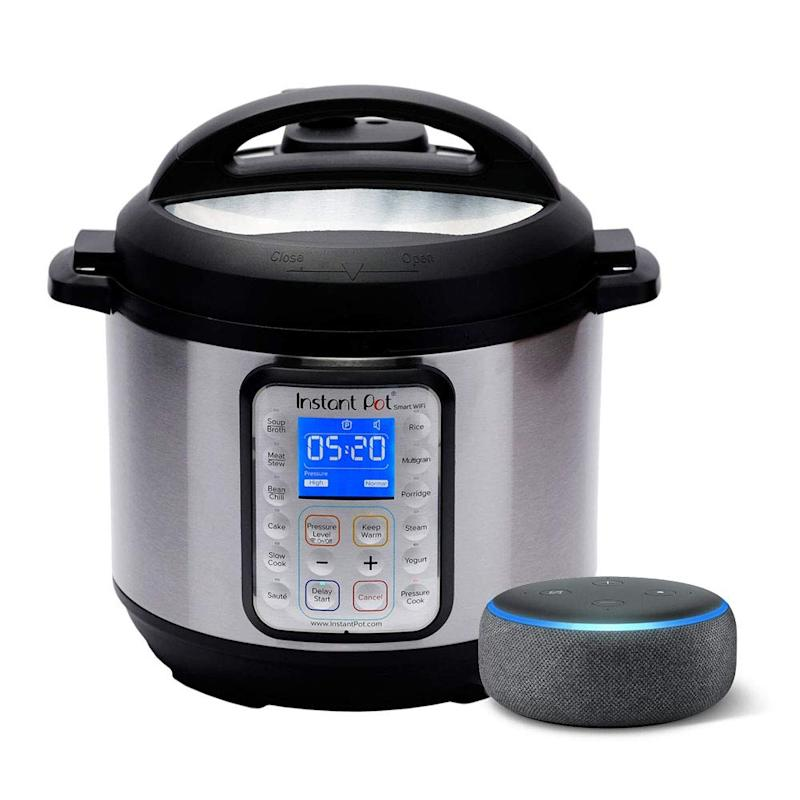 Instant Pot Smart WiFi 6 Quart Multi-use Electric Pressure with Echo Dot (3rd Gen). (Photo: Amazon)