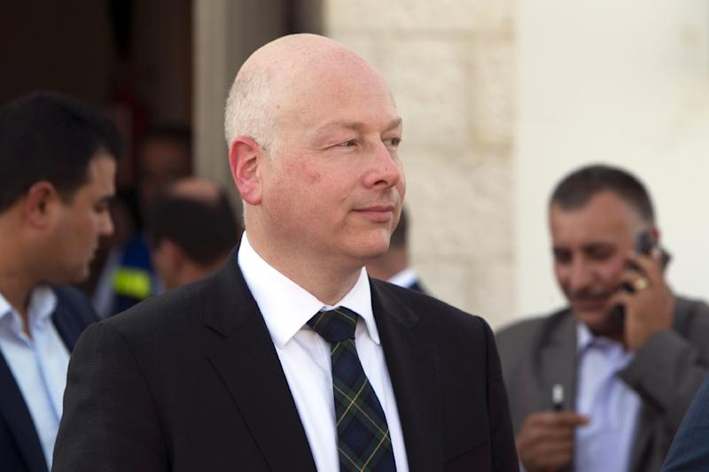 Jason Greenblatt, seen in 2017, is the Middle East envoy for US President Donald Trump