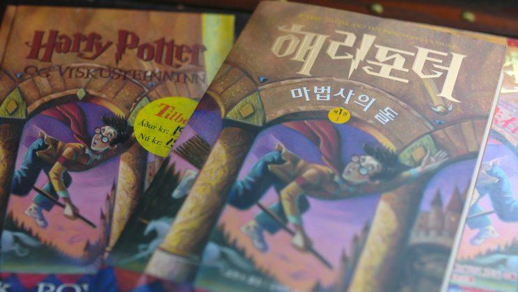 Harry Potter books in different languages.
