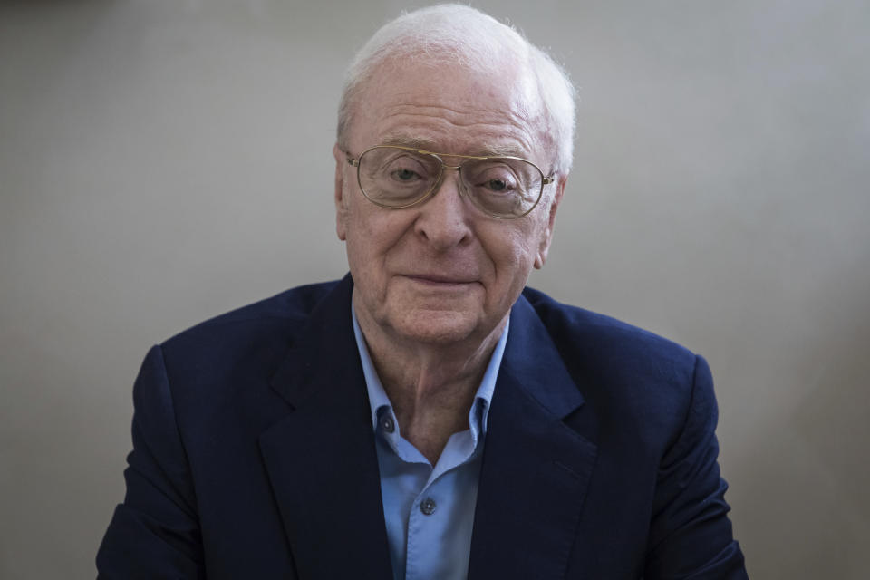 Actor Michael Caine poses for a portrait photograph in London, Thursday, Oct. 11, 2018. (Photo by Vianney Le Caer/Invision/AP)