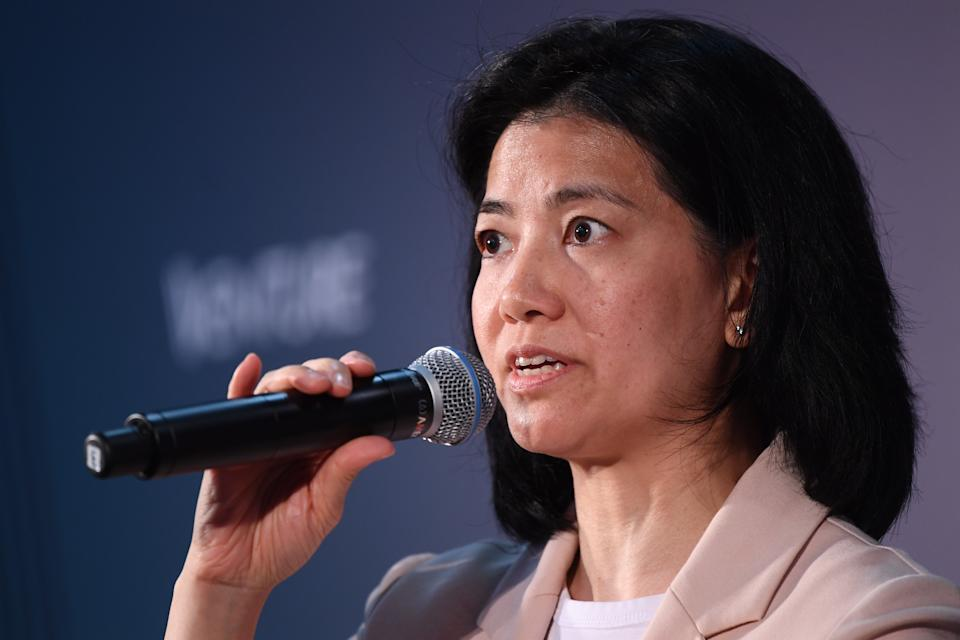HONG KONG , Hong Kong - 9 July 2019; Nisa Leung, Managing Partner, Qiming Venture Partners, on Venture Stage during day one of RISE 2019 at the Hong Kong Convention and Exhibition Centre in Hong Kong. (Photo By Stephen McCarthy/Sportsfile via Getty Images)