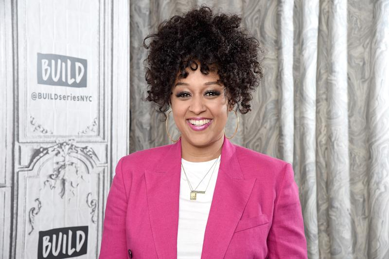 NEW YORK, NEW YORK - JUNE 28: Actress Tia Mowry-Hardrict visits the Build Brunch to discuss the Netflix Series 'Family Reunion' and her YouTube Channel 'Tia Mowry's Quickfix' at Build Studio on June 28, 2019 in New York City. (Photo by Gary Gershoff/Getty Images)
