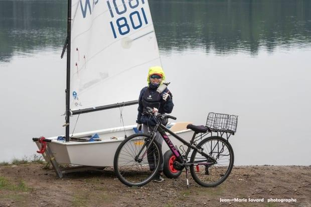 Koko Lee, 11, is an avid cyclist and sailor on a mission to honour the spirit of the whale that died in Montreal last year. (Photo by Jean-Marie Savard - image credit)