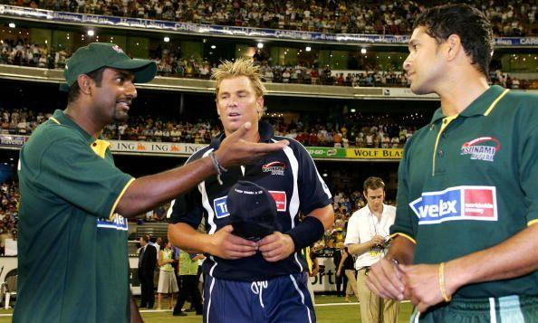 Muralitharan and Warne struggled against an Indian batting lineup featuring Tendulkar on Indian soil