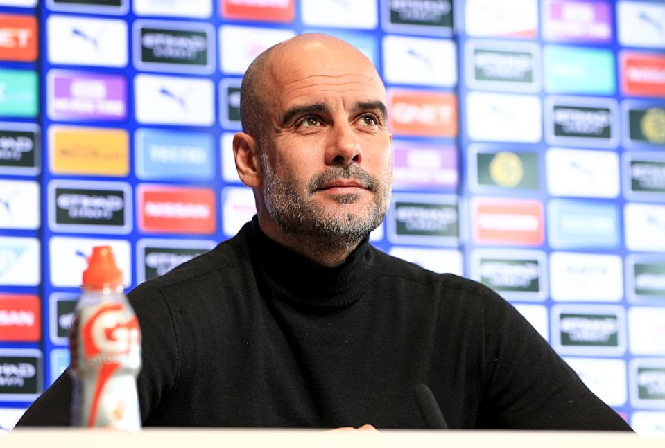 Pep Guardiola's mother, Dolors Sala Carrió, has died after contracting the coronavirus. (Photo by Matt McNulty - Manchester City/Manchester City FC via Getty Images)