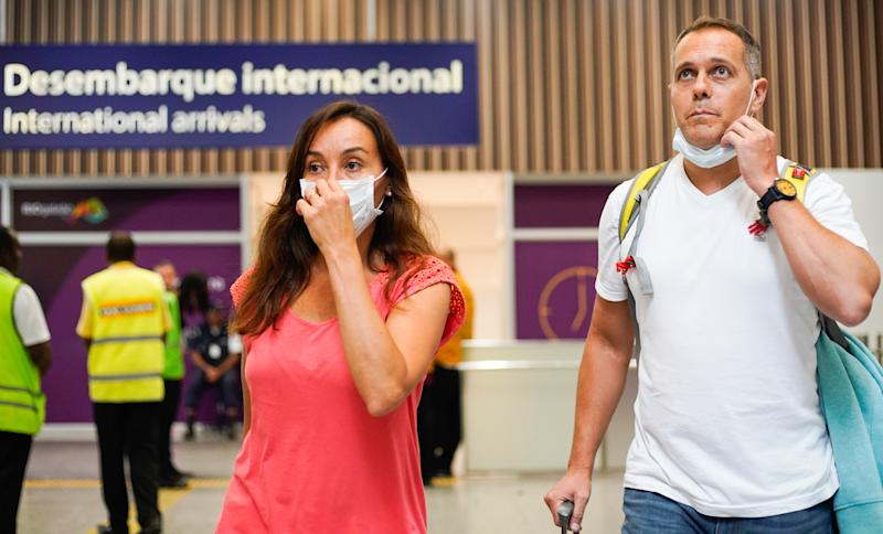 Precautionary Measures Against the Coronavirus Observed at the International Airport in Rio de Janeiro