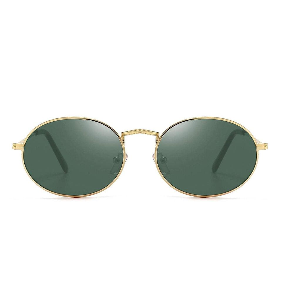 """<h2>Dollger Oval Sunglasses</h2><br>These are giving us 90s jazz club vibes, and we are not mad about it for one second. <br><br><strong>The Hype:</strong> 4.2 out of 5 stars and 195 reviews<br><br><strong>What They Are Saying: </strong>""""These sunglasses are such a great quality dupe for Ray-bans at such a low price! I definitely recommend them, they don't feel cheap and flimsy and look super stylish. Will be buying more!"""" —Mel<br><br><em>Shop <strong><a href=""""https://amzn.to/3vrl05v"""" rel=""""nofollow noopener"""" target=""""_blank"""" data-ylk=""""slk:Dollger"""" class=""""link rapid-noclick-resp"""">Dollger</a></strong></em><br><br><br><strong>Dollger</strong> Dollger Oval Sunglasses, $, available at <a href=""""https://amzn.to/3cxF8wk"""" rel=""""nofollow noopener"""" target=""""_blank"""" data-ylk=""""slk:Amazon"""" class=""""link rapid-noclick-resp"""">Amazon</a>"""