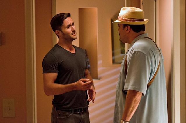 """Darri Ingolfsson as Saxon and David Zayas as Angel Batista in the """"Dexter"""" Season 8 episode, """"Are We There Yet?"""""""
