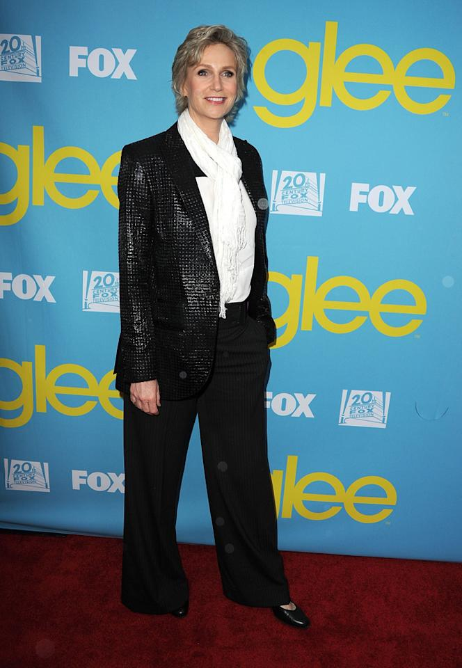 "Jane Lynch attends a special screening of ""<a target=""_blank"" href=""http://tv.yahoo.com/glee/show/44113"">Glee</a>""  hosted by The Academy of Television Arts & Sciences at Leonard H.  Goldenson Theatre on May 1, 2012 in North Hollywood, California."