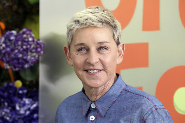 """Ellen DeGeneres attends the premiere of Netflix's """"Green Eggs and Ham,"""" at the Hollywood American Legion Post 43, Sunday, Nov. 3, 2019, in Los Angeles. (Photo by Mark Von Holden /Invision/AP)"""