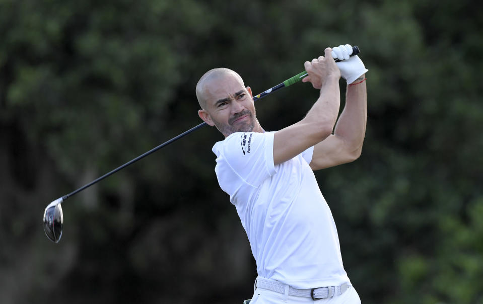 Cancerous tumors on Camilo Villegas' daughter Mia's brain and spine were discovered earlier this year. (Stan Badz/PGA Tour/Getty Images)