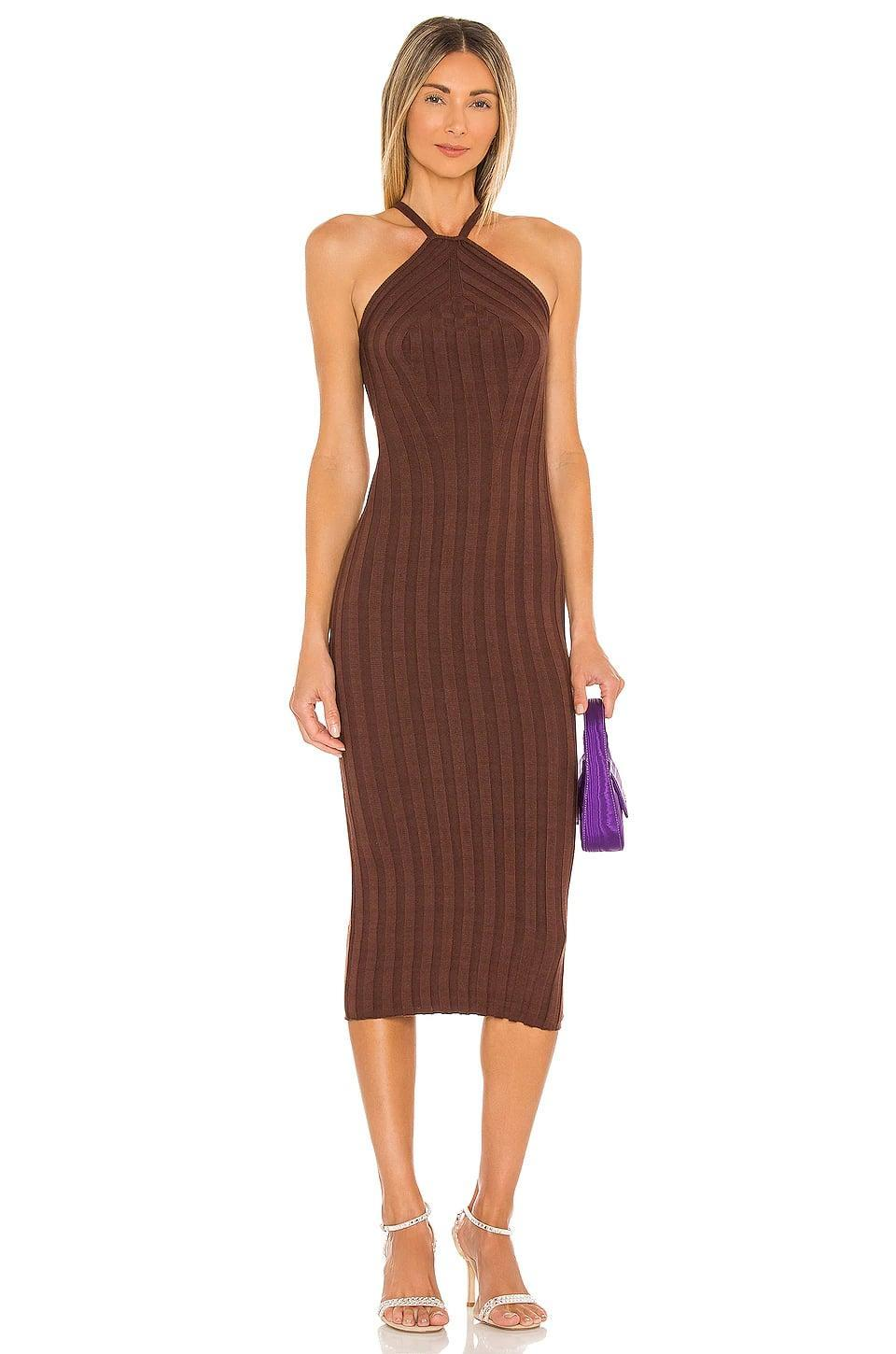 <p>Going somewhere but want to stay comfortable? You need this <span>NBD Grace Wide Rib Knit Dress</span> ($188) in your life.</p>