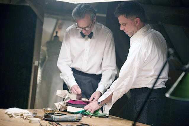 Day-Lewis and Paul Thomas Anderson on the set of  <em>Phantom Thread.</em> (Photo: Laurie Sparham/Focus Features/Courtesy Everett Collection)