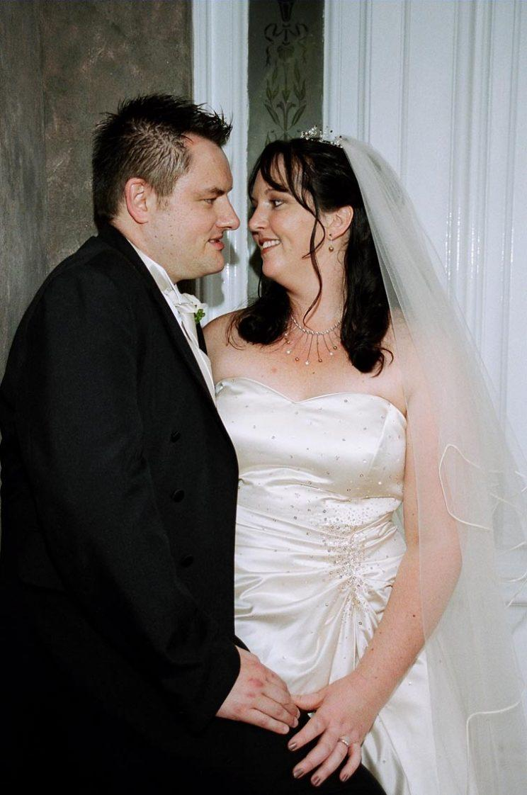 Deborah Crofts with husband Martyn on their wedding day (PA Real Life/A.V.I Auckland NZ)