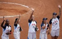 """<p>Abbott was the youngest player on the 2008 silver medal-winning team at the Beijing Olympics, just 23 years old at the time. While Abbott herself had a successful tournament, <a href=""""https://www.teamusa.org/usa-softball/athletes/monica-abbott"""" class=""""link rapid-noclick-resp"""" rel=""""nofollow noopener"""" target=""""_blank"""" data-ylk=""""slk:posting a 0.29 ERA (earned run average)"""">posting a 0.29 ERA (earned run average)</a> and striking out 32 batters over 24 innings, the team underperformed by losing the gold medal game to Japan. It was a stunning upset, with top-ranked Team USA fielding stars like pitcher Jennie Finch, shortstop Natasha Watley, and outfielder Jessica Mendoza in addition to Abbott and Osterman.</p> <p>Abbott has been playing professionally ever since (more on that later), so she's in top form to help Team USA reclaim gold.</p>"""