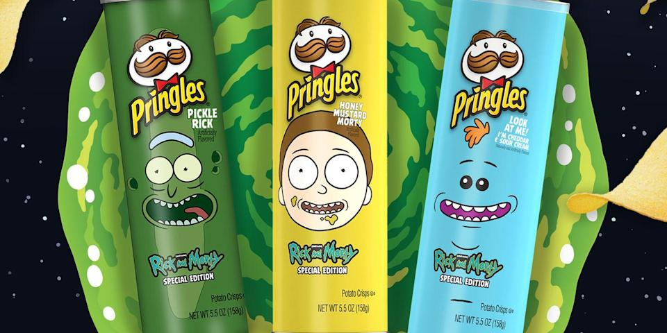 Pringles Has Brought Back Its Pickle Rick Chips And Launched Two New Rick And Morty Flavors