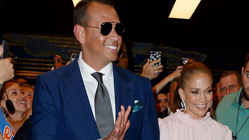Jennifer Lopez Is Pretty in Pink for Another NYC Night Out With Alex Rodriguez