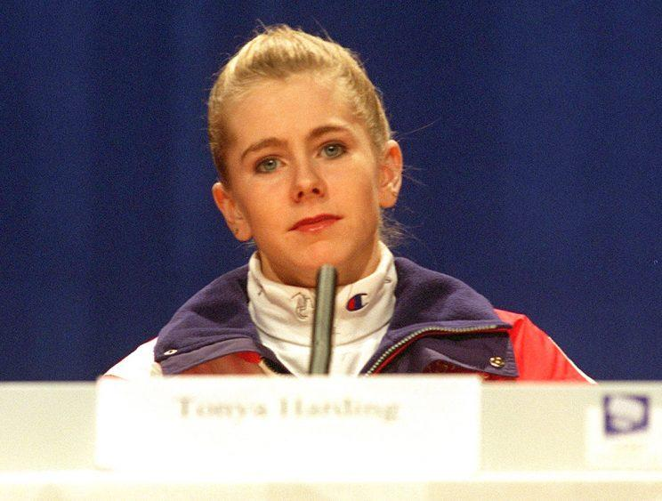 18 FEB 1994: TONYA HARDING DURING TODAYS PRESS CONFERENCE AT THE MAIN PRESS CENTRE LILLEHAMMER, NORWAY. Mandatory Credit: Phil Cole/ALLSPORT