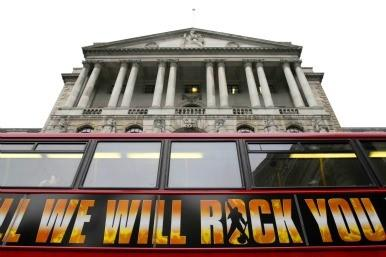 Bus at the Bank of England