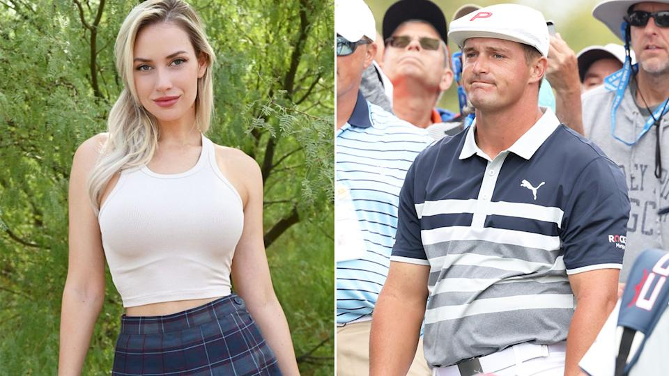 Paige Spiranac says she doesn't have any genuine ill feeling towards Bryson DeChambeau. Pic: Instagram/Getty