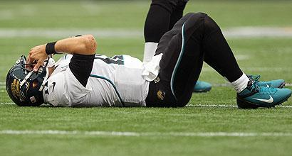 Even though Blaine Gabbert had a strong statistical outing, he still experienced some rough moments. (US Presswire)