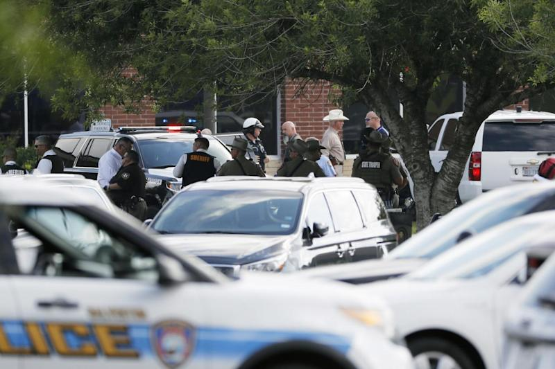 Ten people were killed recently in a separate major shooting at a school in Santa Fe, Texas (AP)