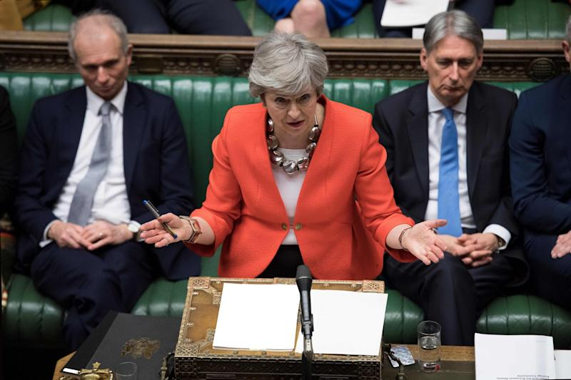 Prime Minister Theresa May's Brexit deal was rejected in a second humiliating defeat on Tuesday (AFP/Getty Images)