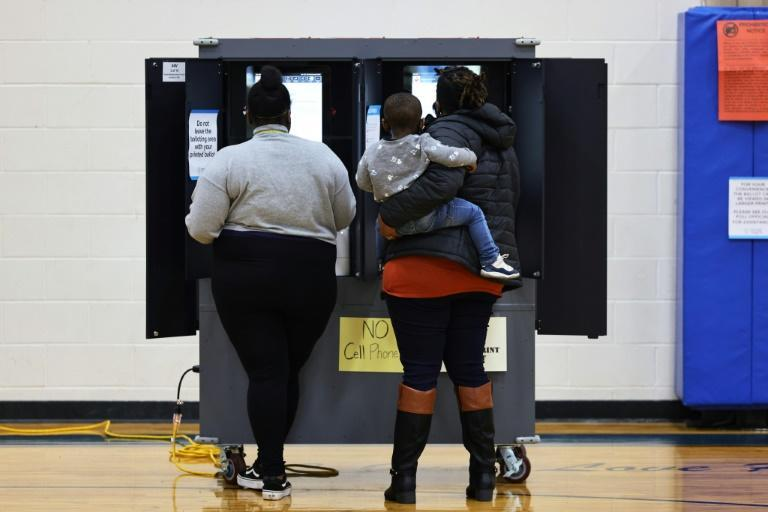 Voters cast their ballots in Atlanta