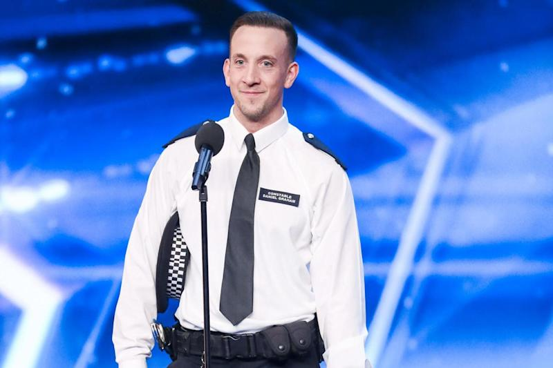 Star: PC Dan Graham received four 'yes' votes from the judges in Saturday's show: PA