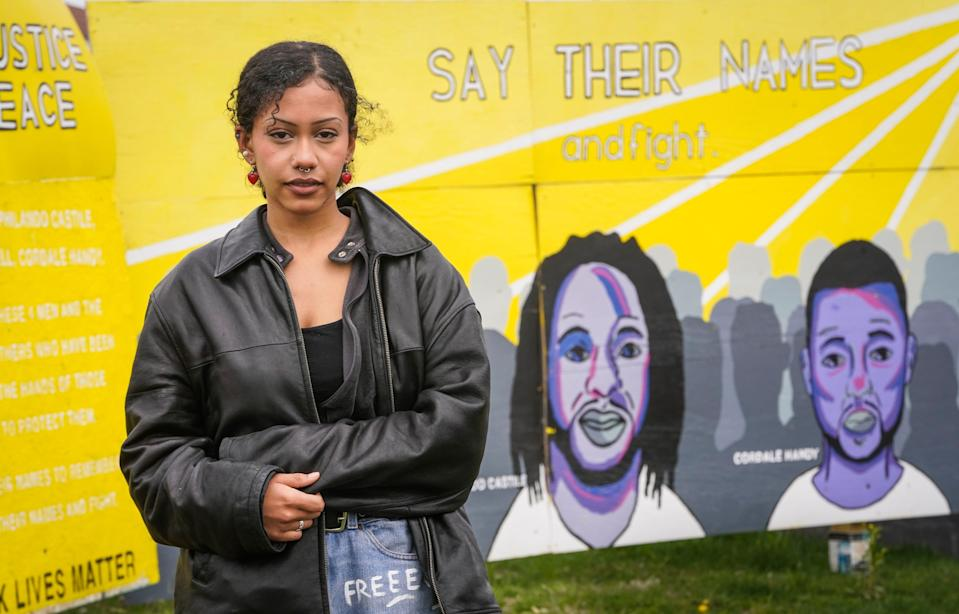 April 21, 2021; Minneapolis, Minnesota, USA.  Rawan Abdalla, an 18-year-old who was out protesting George Floyd's death nearly every during the summer of 2020. Mandatory Credit: Jack Gruber-USA TODAY ORG XMIT: USATODAY-451272 [Via MerlinFTP Drop]