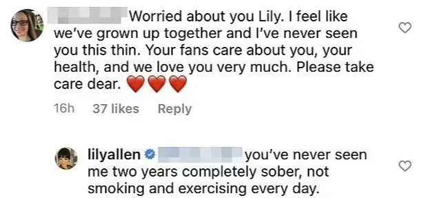 The fan wrote that she'd never seen Lily