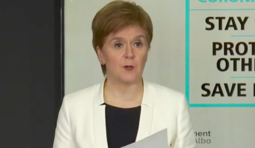 Nicola Sturgeon said a recent outbreak centred around a pub was 'exactly what we feared' when the decision was taken to reopen the hospitality industry. (Scottish Government)